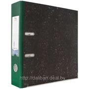 Регистратор SILWERHOF Classic, мраморный, корешок 75мм (зелёный) фото