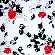Коттон стрейчевый набивной «Панач» (роза) фото