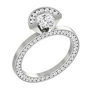 Кольцо классическое с бриллиантами SI1/G 1.50Ct фото