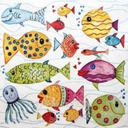 Салфетка для декупажа Рыбки фото