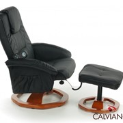 Кресло массаж + пуф массаж TV Calviano (черный) круг фото