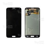 Матрица и тачскрин (сенсорное стекло) в сборе для смартфона Samsung Galaxy S5 SM-G900F, черный фото