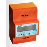 Счетчик электроэнергии модульный LCD 3F 4M 3 x 5A/80A фото