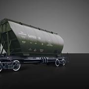 Вагон-хоппер для перевозки минеральных удобрений 19-187-01, Вагоны грузовые железнодорожные хопперы фото