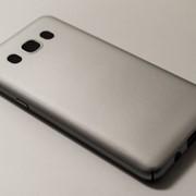 Чехол на Самсунг Galaxy J5 J510F (2016) PC Soft Touch матовый мягкий Пластик Серебро фото