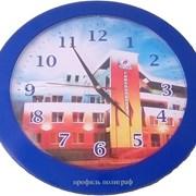 Изготовление сувенирных часов с логотипом  фото