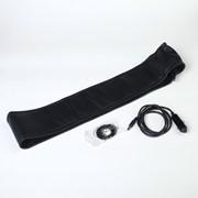 Оплетка на руль, сшивная, с подогревом, 40-42 см, экокожа, черная фото