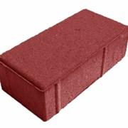 Тротуарная плитка Кирпичик красная фото