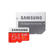 Карта памяти Samsung microSDXC Class 10 EVO Plus V2 64GB + SD адаптер фото
