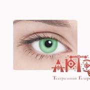 Линзы контактные неоновые, зеленые фото