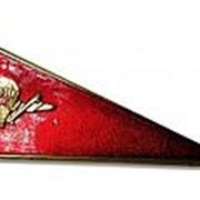 Кокарда уголок (флажок) на берет (пилотку) ВДВ СССР, красный фото