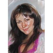 Портрет пастель фото