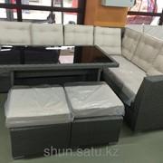 Комплект мебели из искусственного ротанга, код: meb27 фото