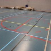 Полиуретановое покрытие для спортивных площадок фото