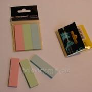 Закладки клейкие бумажные 3 блока по 50 штук,15*50 мм,inFormat. фото