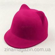 Розовая шляпка с ушками фото