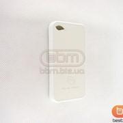Накладка iPhone 4S (Popular Raiders) силикон+кожа белый 70493a фото