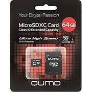Карта памяти QUMO 64Gb microSDXC Class 10 фото