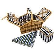Корзина для пикника из натуральной лозы на 4 персоны Daria фото