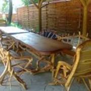 Деревянная мебель для летних кафе и площадок, деревянная мебель под заказ от производителя. фото