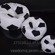 Комплект кресло-мяч 130 см + кресло-мя 80 см + мячик 50 см из ткани Оксфорд черно-белое, кресло-мешок мяч фото