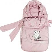Зимний конверт для новорожденных, Розовый фото