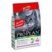Pro Plan 2.4кг+600г Sterilised Сухой корм для взрослых стерилизованных кошек Индейка фото