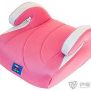 Бустер детский 15-36кг. Little Car 02 F розовый-бежевый фото