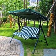Качеля садовая раскладная кровать 210х120х160 см фото