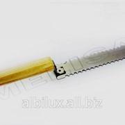 Нож 200мм зубчатый, нержавейка. фото