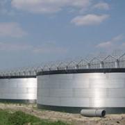 Монтаж сборных баков резервуаров ёмкостей для хранения воды фото