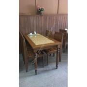 Мебель деревянная для кафе фото