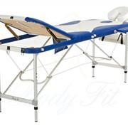 Алюминиевый 3-х сегментный стол для массажа 2 цвета фото