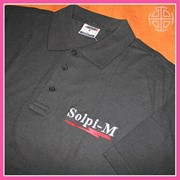 Рубашка поло с логотипом фото
