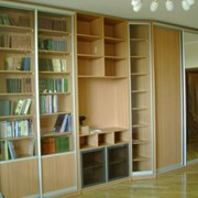 Шкафы для библиотек под заказ, купить, Киев фото