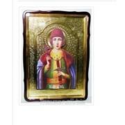 Икона храмовая в фигурном киоте, с багетом Глеб, Святой князь, 80х110 фото