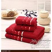 Подарочный набор полотенец для ванной Karna BALE хлопковая махра 50х80 2 шт., 70х140 2 шт. красный фото