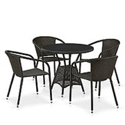 Комплект плетеной мебели T707ANS/Y137C-W53 4Pcs Brown фото