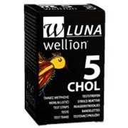 Тест-полоски Wellion Luna Duo холестерин, 5 шт. фото