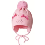 Детская шапка+шарф+варежки розовые Jamiks, весна-осень-зима фото