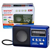 Колонка WSTER WS-239 FM/MP3/SD/USB/AUX (Синий) фото