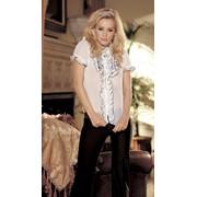 Шифоновая блуза с оборками S-25102 фото