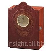 Книга-бар (натуральная кожа) с часами, Art. No 080-07-01-10 фото