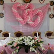 Оформление свадебного зала. Цена доступная. фото