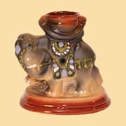 Аромалампа керамическая Слон расписной фото
