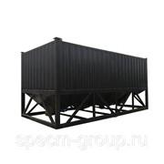 Горизонтальный силос для цемента 40 тонн - сдвоенный фото
