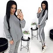Теплый женский спортивный костюм серый АА/-1284 фото