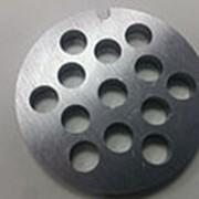 Z028.117 Решетка для мясорубки LENTEL (D-53,5/8мм, раб. отв. 8мм, inox) фото