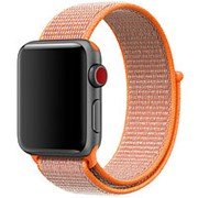 Нейлоновый ремешок Sport Loop Spicy Orange для часов Apple Watch 38mm фото