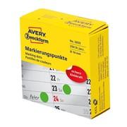 Этикетки-точки Avery Zweckform в диспенсере, d 19 мм, 250 штук, 1 рулон Зеленый фото